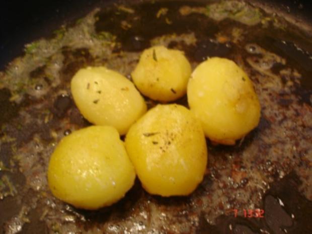 Lummerbraten gegrillt mit Rosmarinkartoffeln und Bohnen - Rezept - Bild Nr. 10