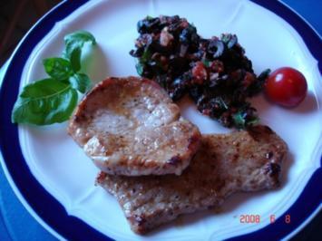 Mediterranes Schnitzel mit Olivensauce - Rezept