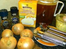 UIENSOEP met Kaas en geroosterde brooddobbelsteentjes - Rezept