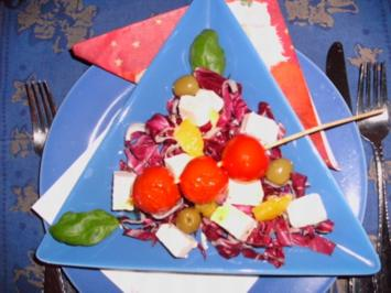 Feta auf Radicchio - Rezept