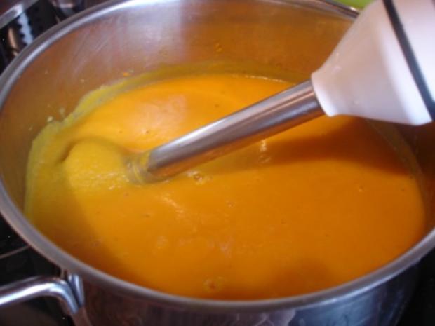 Möhrensuppe mit Fleischwurst - Rezept - Bild Nr. 12