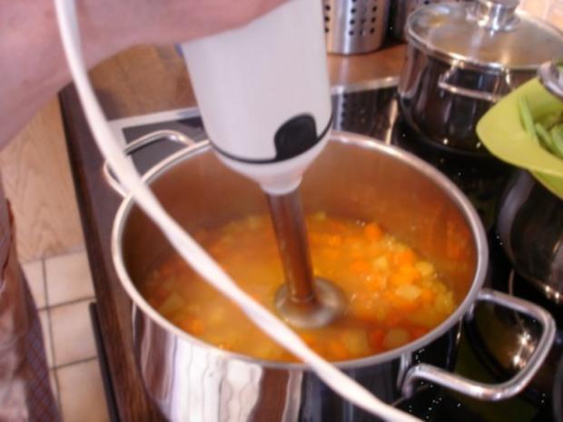 Möhrensuppe mit Fleischwurst - Rezept - Bild Nr. 11