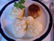 Buletten mit Blumenkohl und japanisches Kartoffelpüree - Rezept