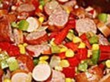 wurstpfanne mit Gemüse Inas Art - Rezept