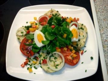 Serviettenknödel- Salat mit Vinegrette - Rezept