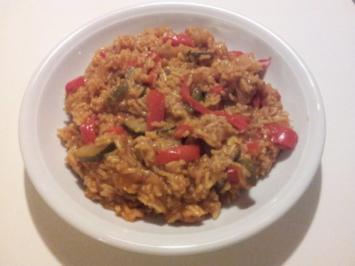Paprika-Zucchini-Risotto - Rezept