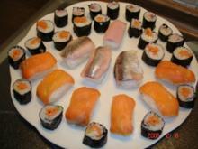 Nigiri-Sushi und Maki-Sushi - Rezept