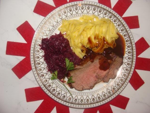 Fleisch : Rosa gebratenes, gespritztes Entrecote - Rezept