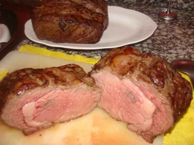 Fleisch : Rosa gebratenes, gespritztes Entrecote - Rezept - Bild Nr. 2