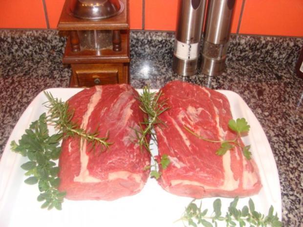 Fleisch : Rosa gebratenes, gespritztes Entrecote - Rezept - Bild Nr. 3