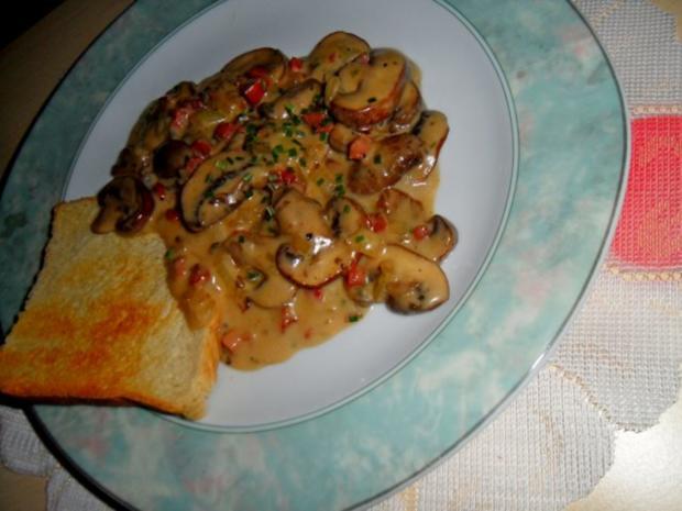 Champignons sauer; dazu Toast - Rezept - Bild Nr. 2