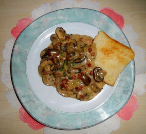Champignons sauer; dazu Toast - Rezept - Bild Nr. 4
