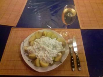 Kartoffeln: Pellkartoffeln mit Lauch-Kräuterquark - Rezept