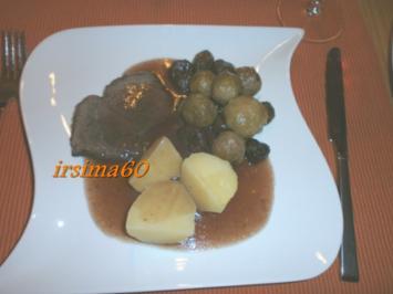 Glasiertes Rosenkohl - Maronen - Gemüse - Rezept