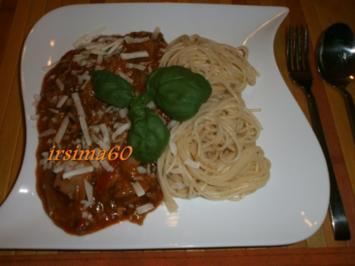 Spaghetti mit  Notfall Soße - Rezept