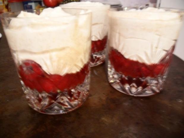 Weißer Mohn-Himbeer-Mousse - Rezept
