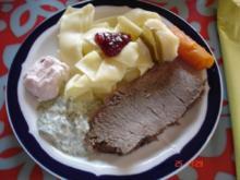 Tafelspitz mit Nudeln und Sauce(n) - Rezept