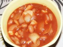 Chilibohnen-Putensteak-Zwiebel-Topf - Rezept
