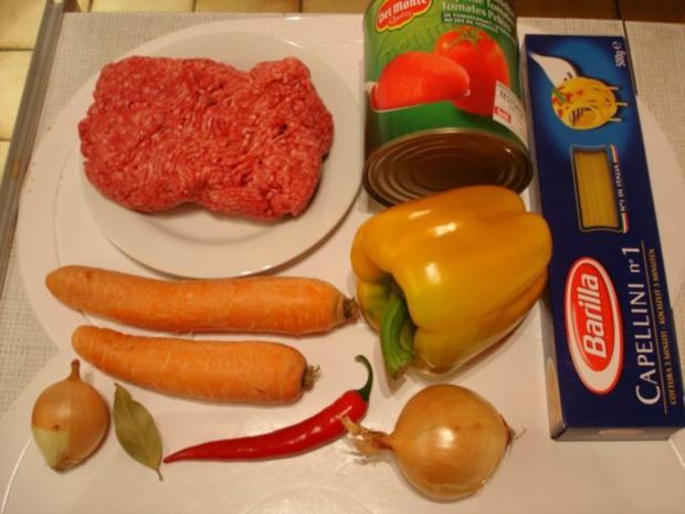 Spaghetti mit Hack-Gemüse-Sauce - Rezept - Bild Nr. 2