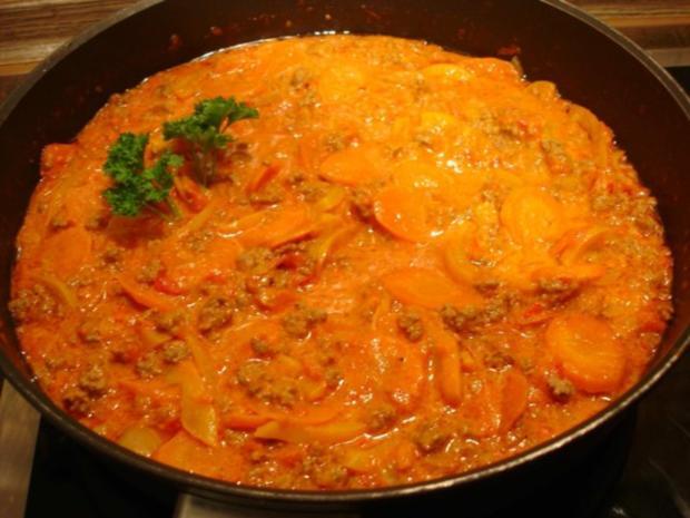 Spaghetti mit Hack-Gemüse-Sauce - Rezept - Bild Nr. 17