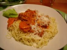 Spaghetti mit Hack-Gemüse-Sauce - Rezept