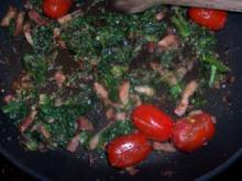 Rummsteak  mit Rukola-Tomatengemüse - Rezept