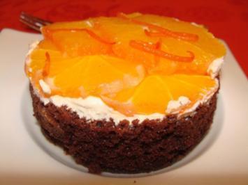 Orangen-Schoko-Torte - Rezept