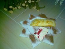 Himbeer- Vanille Parfait mit Winterlicher Sahne - Rezept