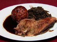 Ente mit Grünkohl an belgischer Biersoße (Uwe Fellensiek) - Rezept