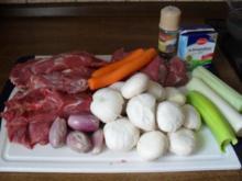 Kalbsragout mit Champignons - für`s Lachfröschle - Rezept