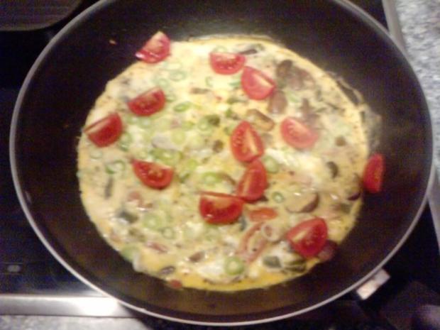 Tortilla Salmón y setas y hierbas - Rezept - Bild Nr. 8