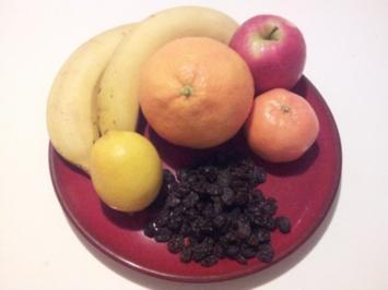 Obst-Salat im Winter mit Banane - Rezept