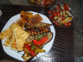 grillgemüse mit halumi - Rezept