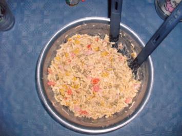 Gabel-Spaghetti-Salat Kunterbunt - Rezept