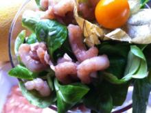 Garnelen-Cocktail.. mit marinierten Garnelen an Salat mit Früchten.... - Rezept