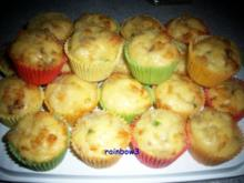 Backen: Tomaten-Mozzarella - Mini-Muffins - Rezept
