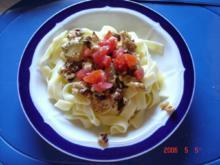 Pasta-Sauce mit Nudeln - Rezept