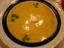 Sahnige Kürbissuppe - Rezept