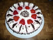 Erdbeere - Sahne - Torte zum 40. Geburtstag ! - Rezept