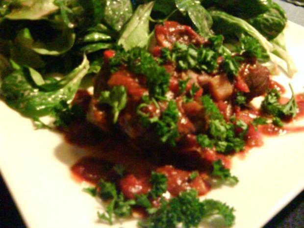 Beinscheiben mit Gemüsesauce                               (Ternera en cazuela con salsa) - Rezept - Bild Nr. 2