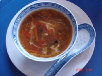 "Rezept: Mama´s ""Chinesische Gemüsesuppe süß-sauer"""