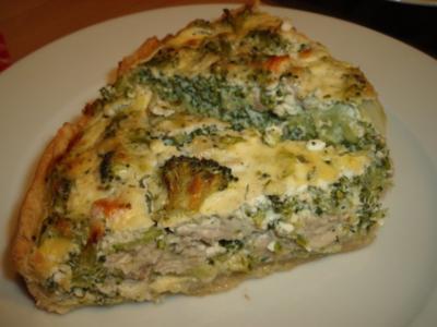Pikante Brokkoli-Lachs-Quiche als Vor- oder Hauptspeise - Rezept