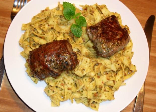 Lammfilet an Dattel-Maroni-Pesto - Rezept - Bild Nr. 2