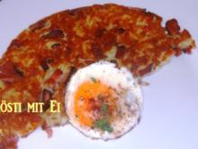 Schweizer-Rösti mit Schinken und Ei - Rezept