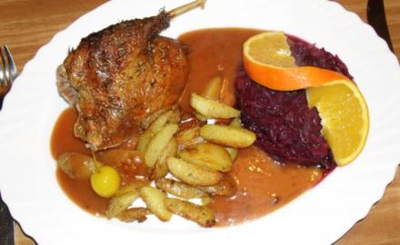 Barbarie-Ente an Orangen-Ganatapfel-Sauce - Rezept
