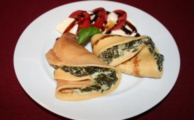 Crêpes mit Feta und Spinat - Rezept - Bild Nr. 2