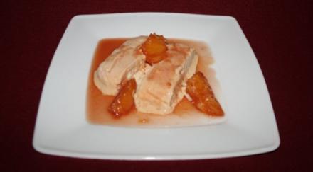 Parfait mit Irish Cream auf Orangensoße - Rezept