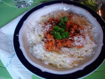 Rezept: Bolognese mit Capellini-Nudeln