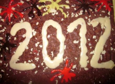 Neujahrskuchen-Schokoladenkuchen - Rezept