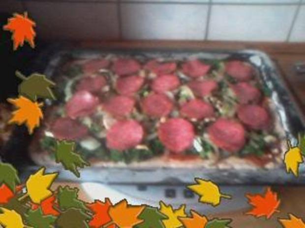 Darf es heute mal Pizza anders sein oder Grünkohlpizza a`la Jörg die Dritte - Rezept - Bild Nr. 5